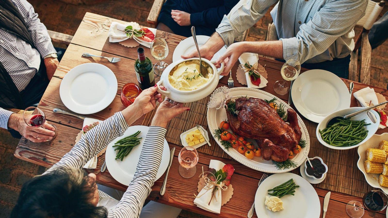 Family Thanksgiving Stock Photo