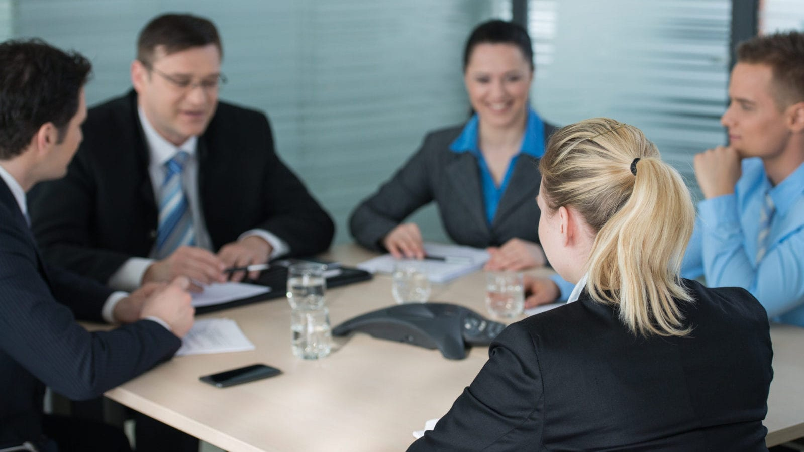 Lawyers In A Meeting Stock Photo