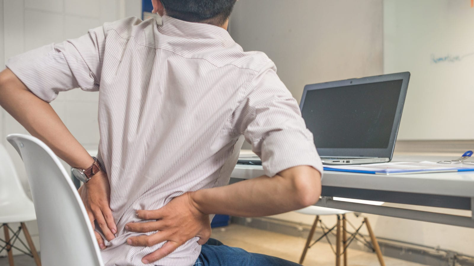 Lower Back Pain Stock Photo