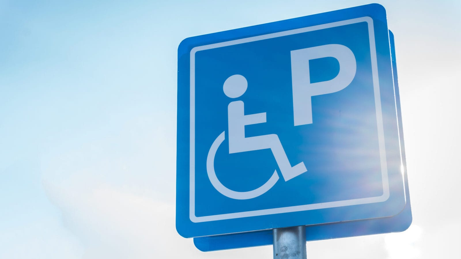 Blue Handicapped Parking Sign