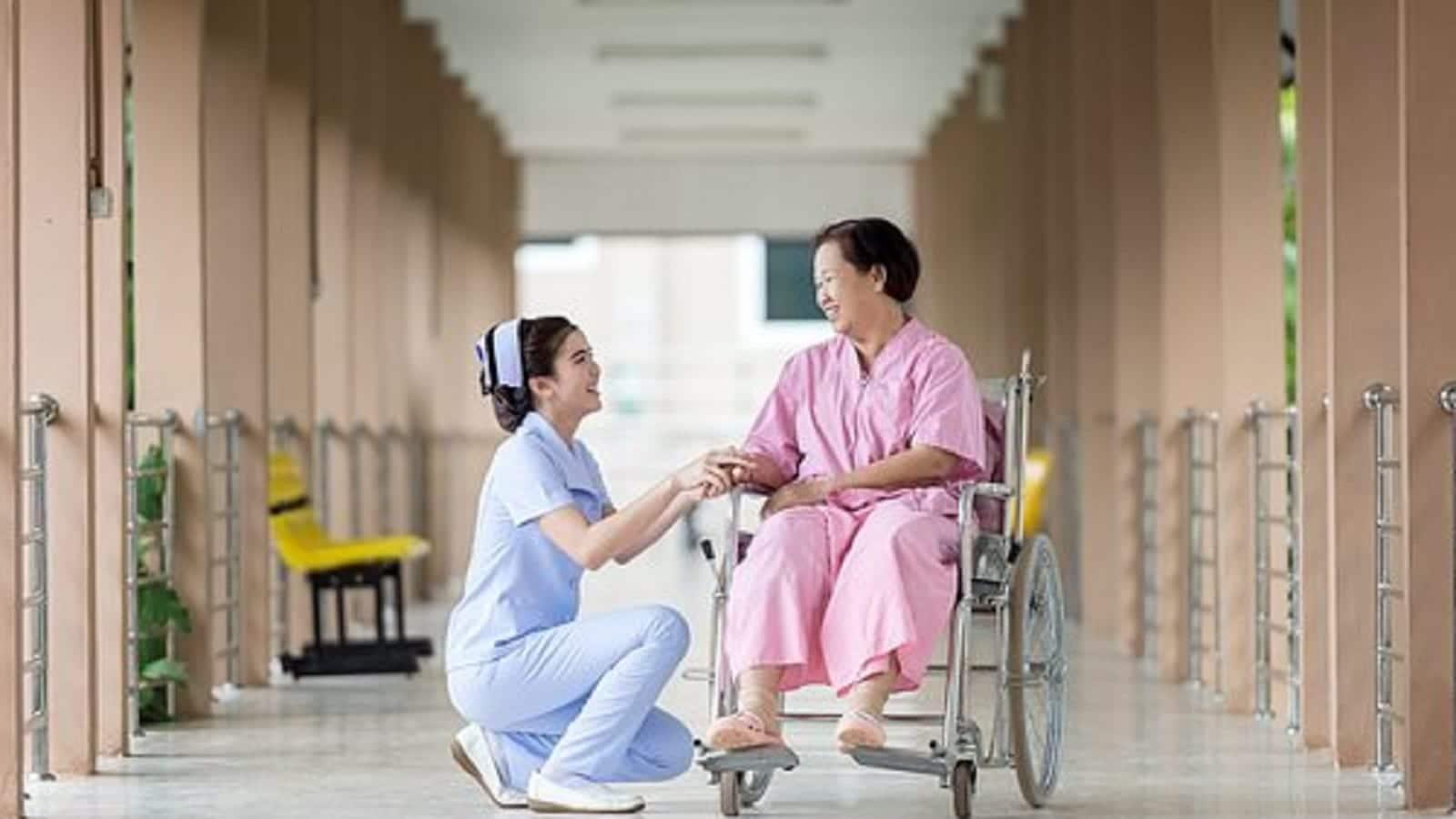 Elderly Woman Wheelchair Stock Photo