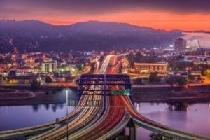 Charleston, West Virginia, USA Skyline