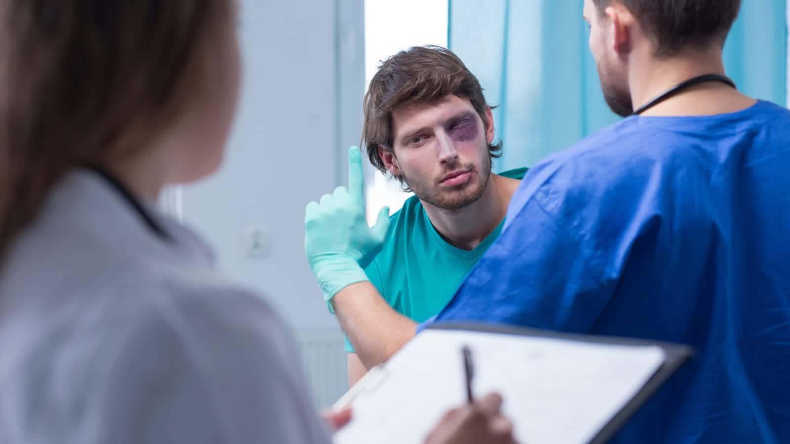 Male Patient Stock Photo