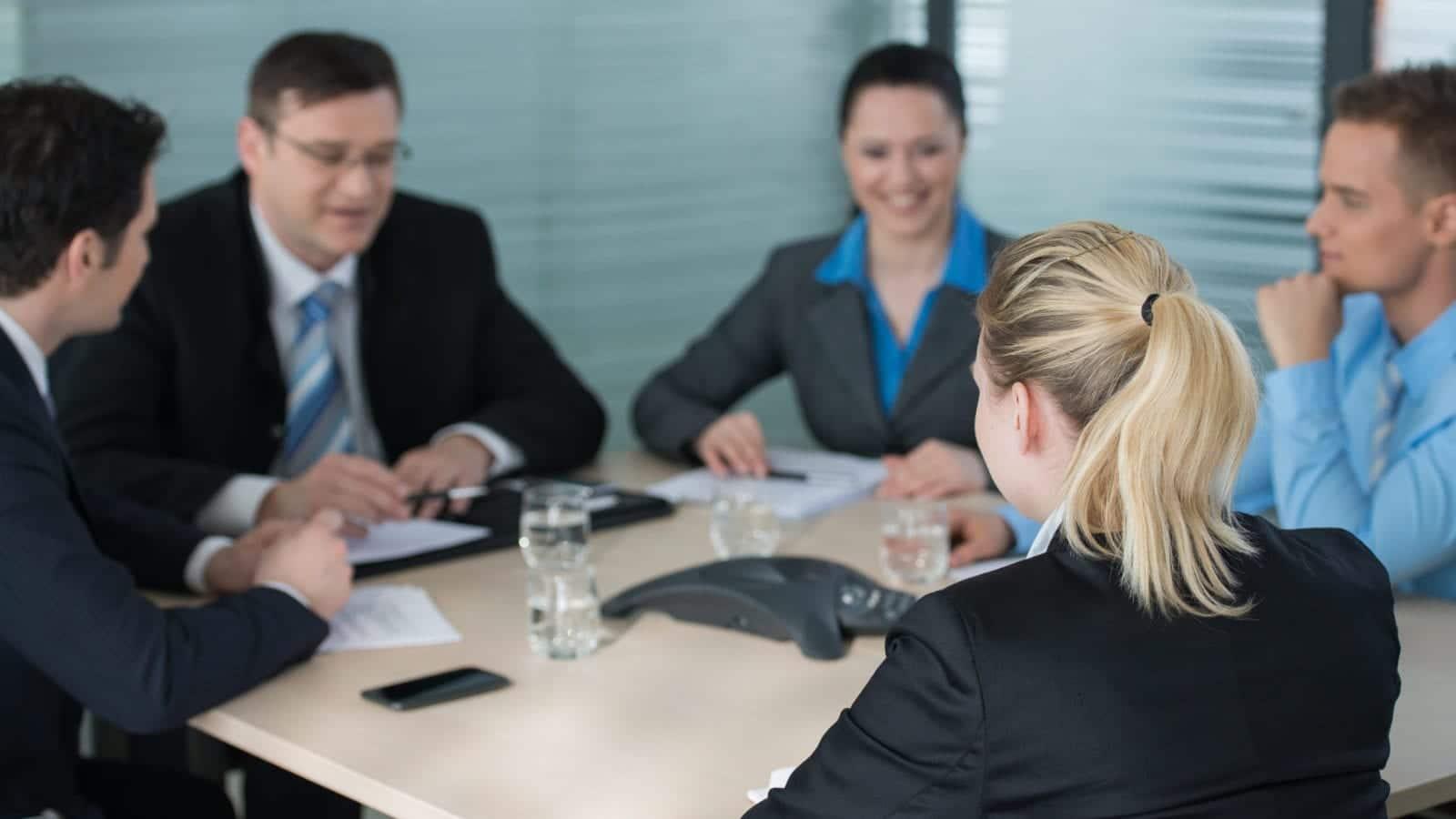 Lawyer Meeting Stock Photo