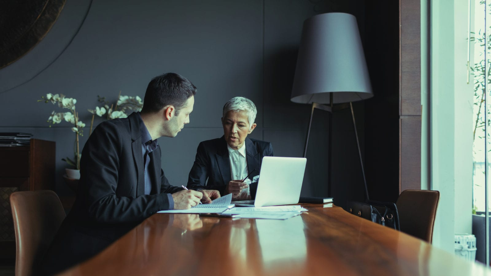 Lawyer Meeting With Client Stock Photo