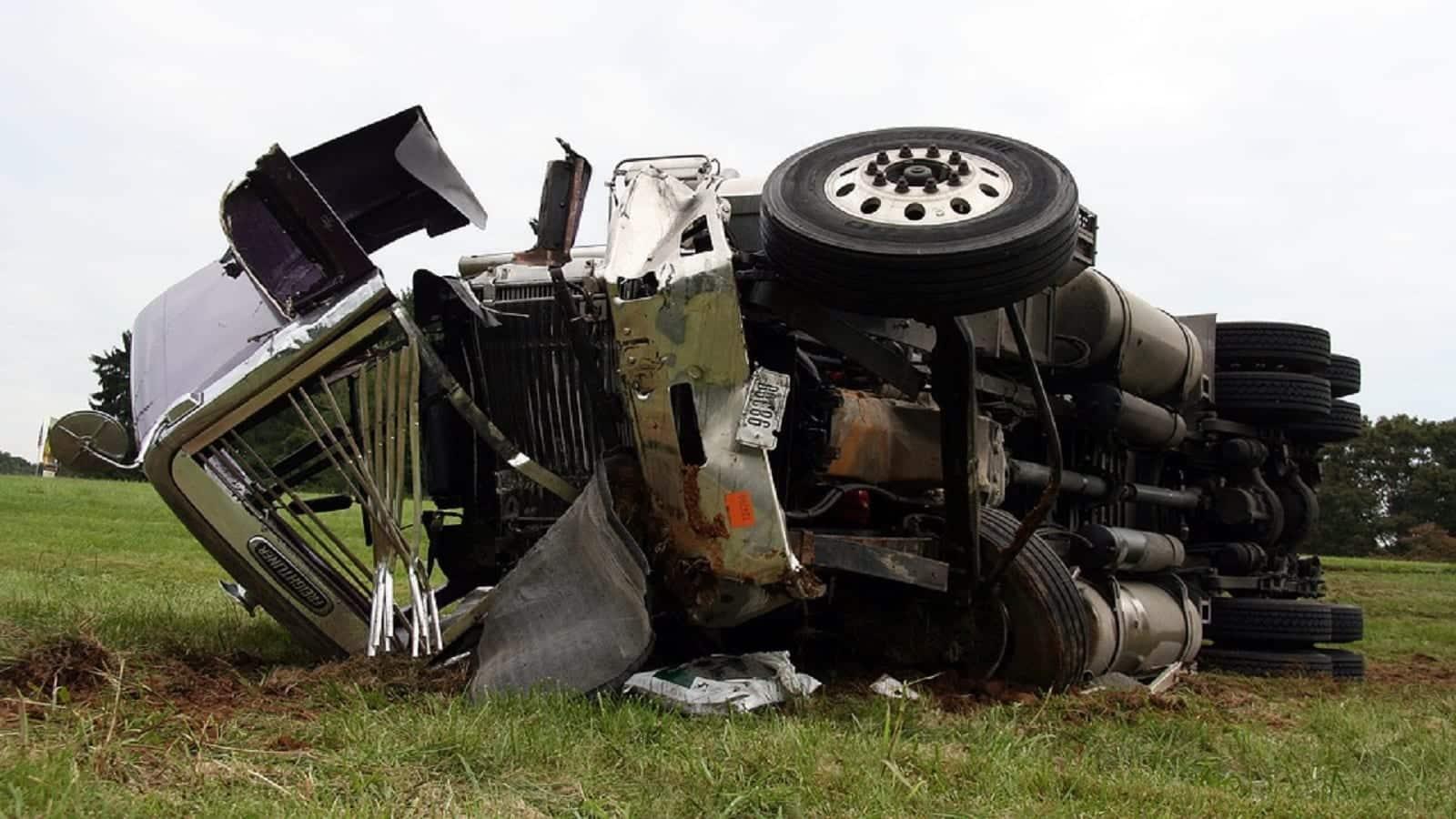 Truck Crash Stock Photo