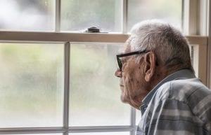 Elderly Man Window