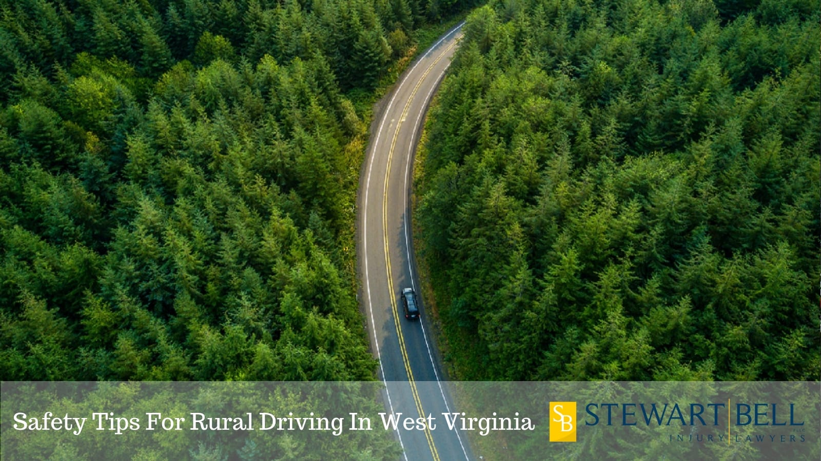 Car Driving On A Windy Rural Road In West Virginia