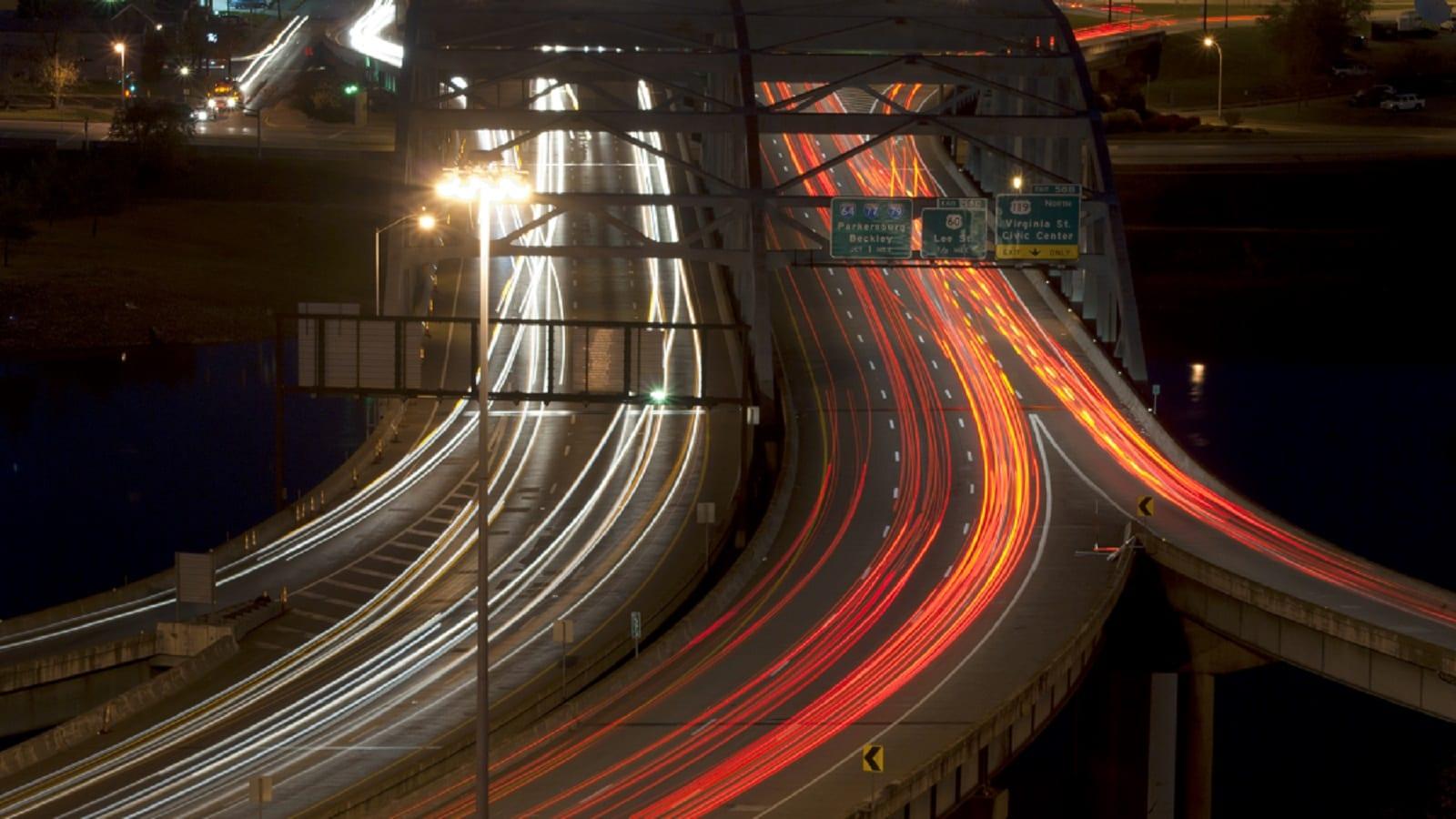 West-Virginia-Highway-At-Night