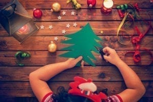 child-making-christmas-cards