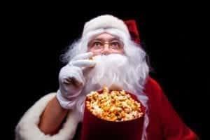 santa-eating-popcorn